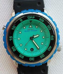 Seiko 8C25-0010 Surf Timer Green Dial Wrist Watch JDM Works April 1985