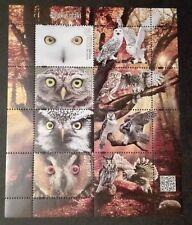 POLAND STAMPS MNH Fibl312 Mibl270 - Polish birds - Owls, 2017, **