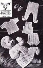 "PEDIGREE BOY DOLL - 16"" - 3ply - COPY vintage doll knitting pattern"