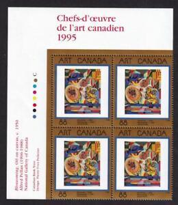Canada 1995 sc#1545 Blossoming by Alfred Pellan, MNH UL PB