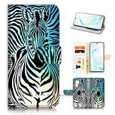 ( For Samsung Note 10+ / 10 Plus ) Flip Case Cover AJ40124 Zebra