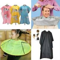Kids/Adult Home Salon Barber Gown Cloth Hair Cutting Cape Hairdressing Dyei #eva