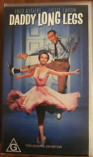 DADDY LONG LEGS FRED ASTAIRE LESLIE CARON FRED CLARK AS NEW RARE PAL VHS VIDEO