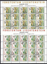 """Liechtenstein 1999 - Mi. 1190 """"EUROPA"""" im Kleinbogen gestempelt"""