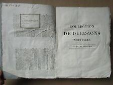 DENISART : COLLECTION DE DECISIONS, 1808. Tome 13 in-4 de Dot à Honnêteté.