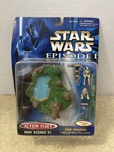 Galoob Star Wars Episode 1 Stap Invasion 68120 Gungan Jar Jar Battle Droid