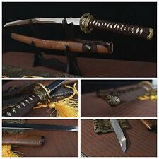 Japanese Samurai Sword Clay Tempered T10 Steel Blade Katana Rosewood Saya Sharp