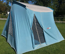 Vintage Coleman OLYMPIC Canvas Springbar Tent - 11x10 - Near Mint - Rare Color