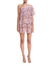 SELF-PORTRAIT One-Shoulder 3D Floral Mini Cocktail Dress US6 UK10 Orig $545 NWT