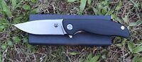 "4.5"" G10 Handle ball bearing Folding Knife with D2 Blade Pocket Knife"