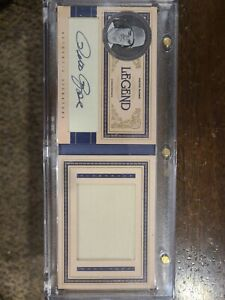 2011 Playoff Prime Cuts Legends Jumbo Materials Booklet 9/10 Pete Rose Auto🔥