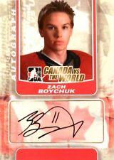 11-12 itg game canada vs world zach boychuk team autograph auto