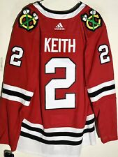 AUTHENTIC ADIDAS NHL JERSEY CHICAGO BLACKHAWKS DUNCAN KEITH RED SZ 46