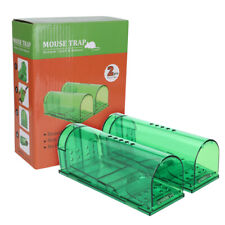 2-Pack Mouse Trap Rat Trap Rodent Trap Live Catch Cage, Easy to Set Up and Reuse