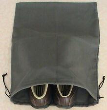 1Pc Multi Function MicroFiber Suede Golf Shoe Bag-Unisex Dark Grey