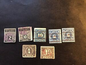 Lot of 7 Unique U.S.Post Note/Proprietary Stamp/Playing Card Stamp(1914...)used