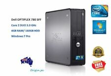 Dell Optiplex 780SFF Core 2 Duo 3.0Ghz 4GB Ram 160GB HDD Win 7 Pro Desktop PC