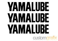 3 x YAMALUBE Moto Réservoir Belly Pan Swing Arm Sticker Decals, toute couleur