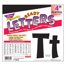 Black 4-Inch Notice Board Display Letters Classroom Decoration 216 Characters