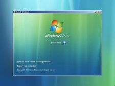 Windows Vista 32 / 64 bit Reinstall Install 8.5GB DVD Disc All Versions
