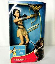 "DC Wonder Woman Bow-Wielding 12"" Doll Gal Gadot Mattel New"