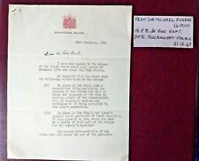 1949 Letter from Buckingham Palace written on behalf of King George VI