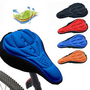 Bicycle Silicone 3D Gel Saddle Seat Cover Pad Padded Soft Cushion Comfort  FT