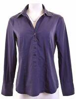 BENETTON Womens Pullover Shirt Size 14 Large Purple Cotton  G113