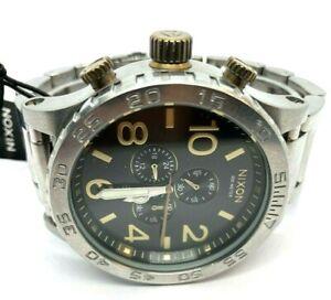 Nixon 51-30 Chrono Black/Brass Mens Watch A083-2222 New