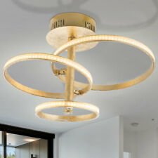 LED Decken-Lampe Kristall Gold Design Wohn-Schlaf-Zimmer Leuchte Kronleuchter