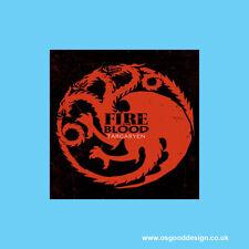 Game of Thrones GOT Targaryen Dragon Fire & Blood Car Window iPad Sticker C198