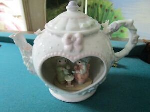 "PRECIOUS MOMENTS TEAPOT NIGHT LAMP 6 1/2 x 9"" SAMUEL J. BUTCHER ENESCO CO. [a1]"