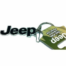 Jeep Official License Elite Classic Chrome Zipper Pull Keychain Universal