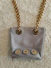 Vintage TIFFANY & CO Shoulder Bag gray Suede nu-buck w/Gold Logo Hardware
