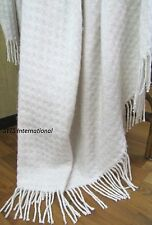 Sonderauktion! Plaid Decke Wolldecke Wohndecke 130 x 185 cm Wolle Rio Weiß