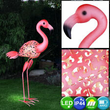 LED Exterior Área Solar Soporte Lámpara de Pie Flamingo Terrazas Hof Iluminación