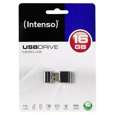 MINI CHIAVETTA USB 2.0 FLASHDRIVE INTENSO MICRO LINE 16GB PER AUTO #17953