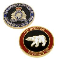 "RCMP Police Challenge Coin ""G"" Division Unit Royal Canadian Mounted Police"