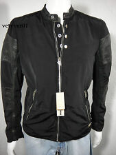 DIESEL Biker/ Motorcycle Leather Satin Nylon J-Arthur-L Jacket Black size M