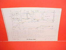 1964 MERCURY COMET CYCLONE GT CALIENTE CONVERTIBLE WAGON FRAME DIMENSION CHART