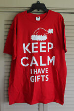 KEEP CALM I HAVE GIFTS T-SHIRT Large