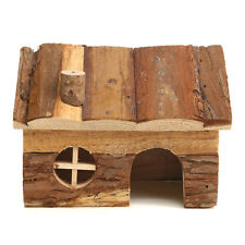 Wooden House Villa Cage Exercise Toy for Hamster Hedgehog Mouse Rat Guinea Pig Small Bell Roller