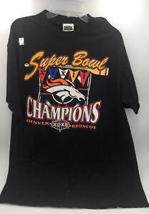 Denver Broncos Vintage Super Bowl XXXII T-Shirt XL black champions logo