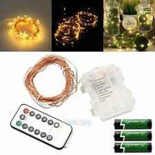 Remote Control 10M 100LED Battery Power Copper Wire LED Fairy String Light Lamp