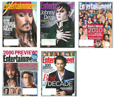 Johnny Depp Lot 5 magazines 2006-2012 Jack Sparrow Dark Shadows Alice Wonderland