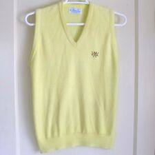 PICKERING Golf Sweater Vest V-Neck Yellow Acrylic Soft Knit El Niguel CC Men's L