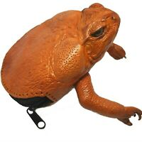 Frog Toad Skin Coin Purse Leather Wallet Organizer Zip Up Bag Mens Womens