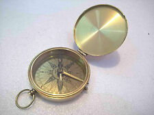 Flat Compass Nautical Brass Vintage Collectible