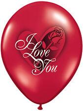 """6 X 11"""" día de San Valentín que Te Amo Rojo Rosa Globos de Látex Fiesta Decoración"""
