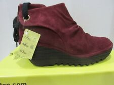 FLY London Yebi OIL Suede Wine Women's Ankle boots Size EU 37 US 6-6.5